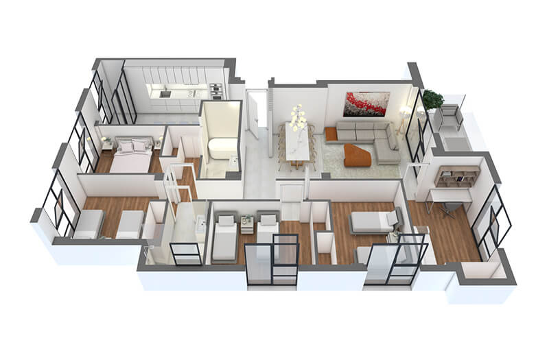 DIAZ-ROMERO-ARQUITECTURA-17-VIVIENDAS-ALBACETE-vivienda-5dormitorios